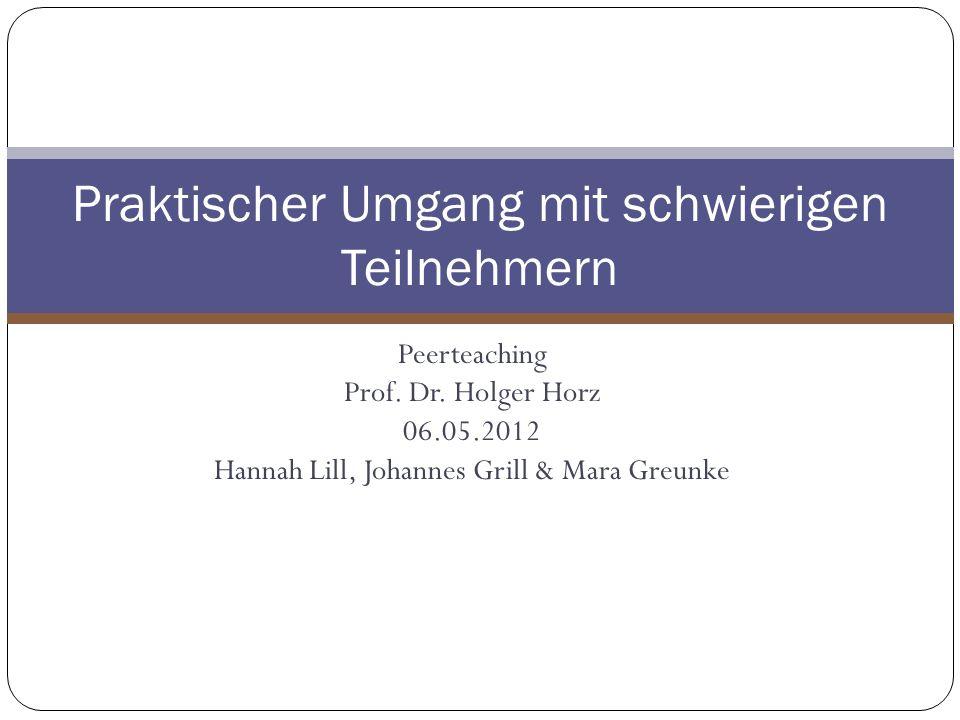 Peerteaching Prof.Dr.