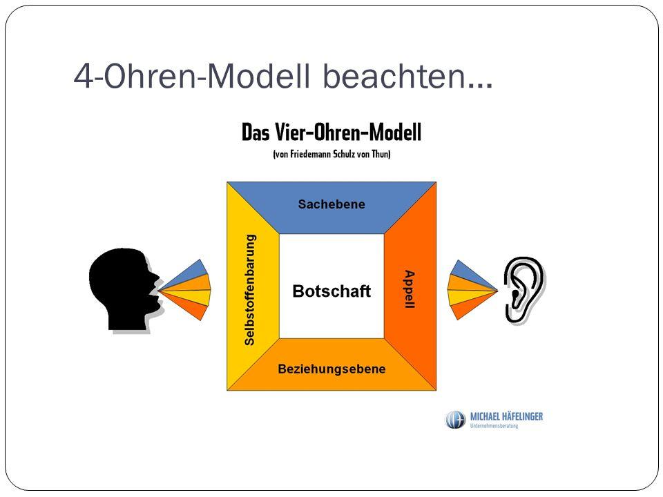 4-Ohren-Modell beachten…