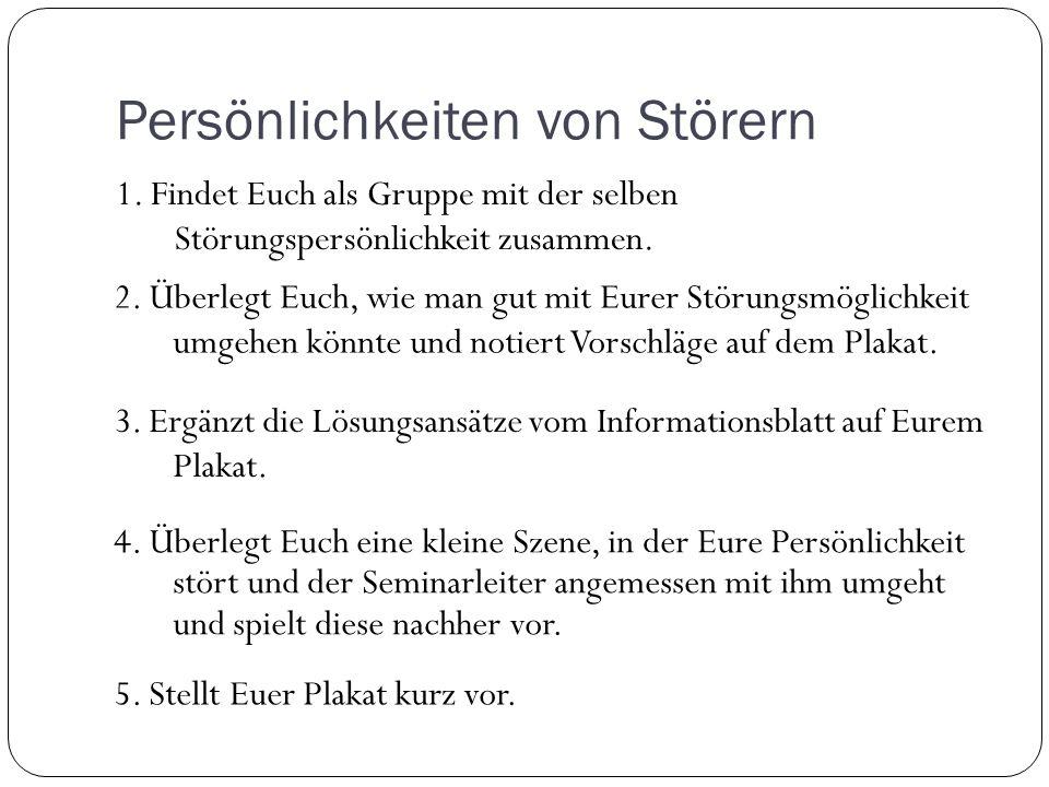 Persönlichkeiten von Störern 1.