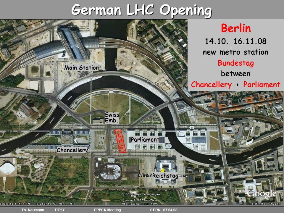 14 Th. Naumann DESY EPPCN Meeting CERN 07.04.08 Gallery with exhibits Gleis bett