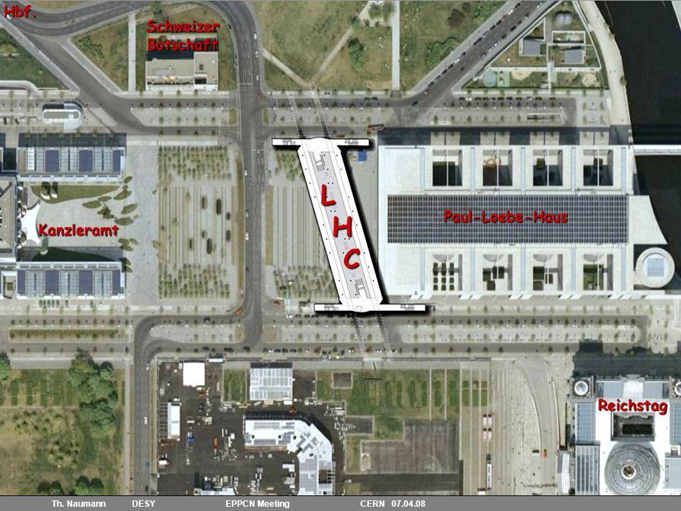 4 Th. Naumann DESY EPPCN Meeting CERN 07.04.08 Kanzleramt SchweizerBotschaft Paul-Loebe-Haus ReichstagHbf.L H C