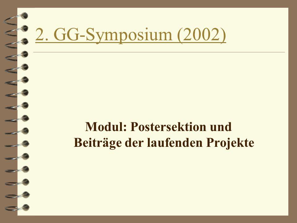 2. GG-Symposium (2002) Modul: Postersektion und Beiträge der laufenden Projekte