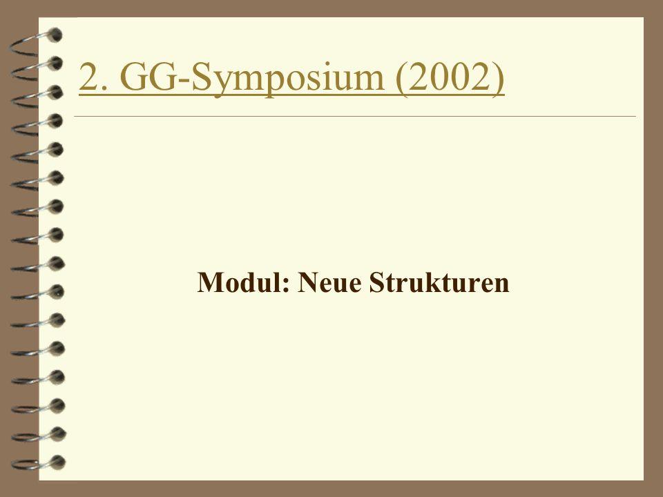 2. GG-Symposium (2002) Modul: Neue Strukturen