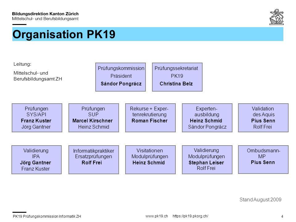 PK19 Prüfungskommission Informatik ZH www.pk19.ch https://pk19.pkorg.ch/ 15 FA Themensuche (1) 1.