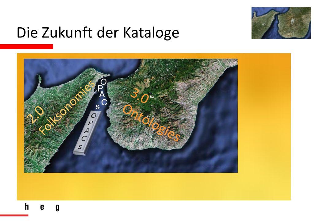 Die Zukunft der Kataloge O P A C s 2.0 Folksonomies 3.0 Ontologies