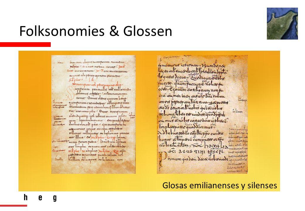 Folksonomies & Glossen Glosas emilianenses y silenses