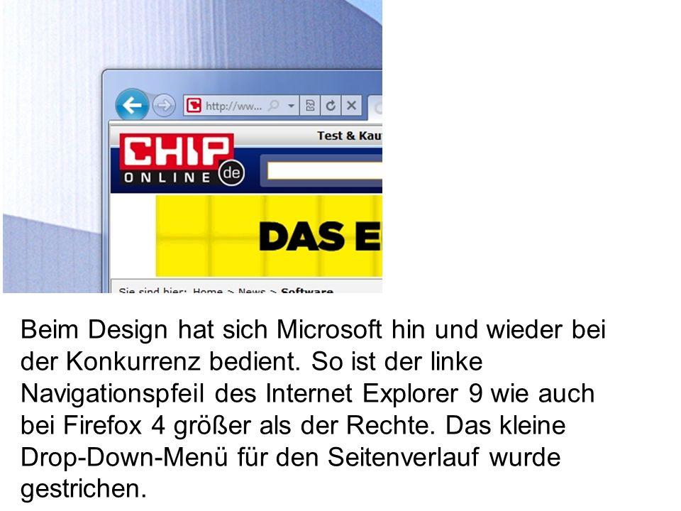 Beim Design hat sich Microsoft hin und wieder bei der Konkurrenz bedient.