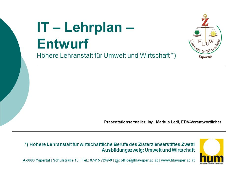 Stundenverteilung derzeit Textverarbeitung und Publishing I.II.III.IV.V.