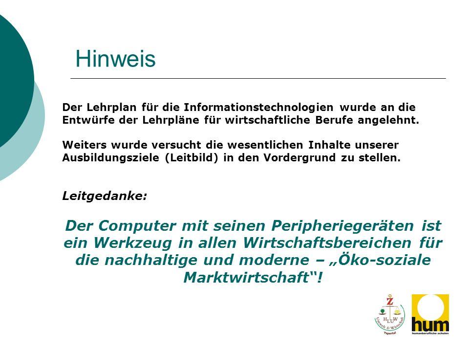 Stundenverteilung – NEU (Entwurf) Informations- und Officemanagement I.II.III.IV.V.