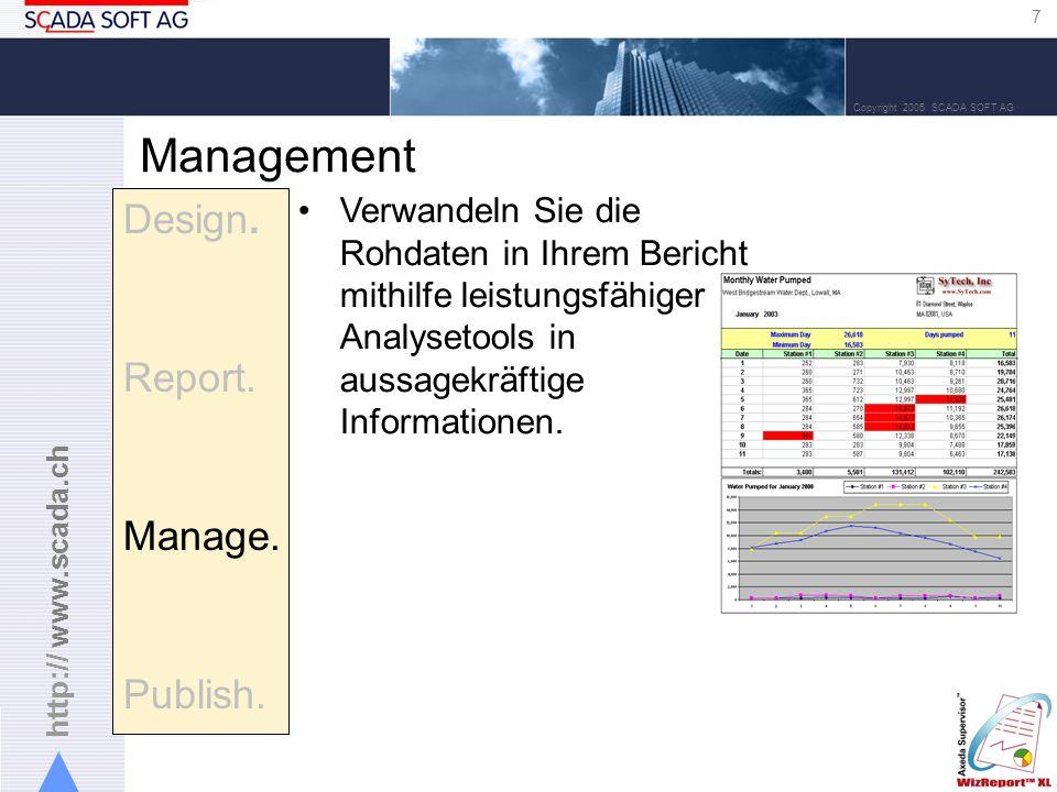 http:// www.scada.ch 7 Copyright 2005 SCADA SOFT AG Management Design.