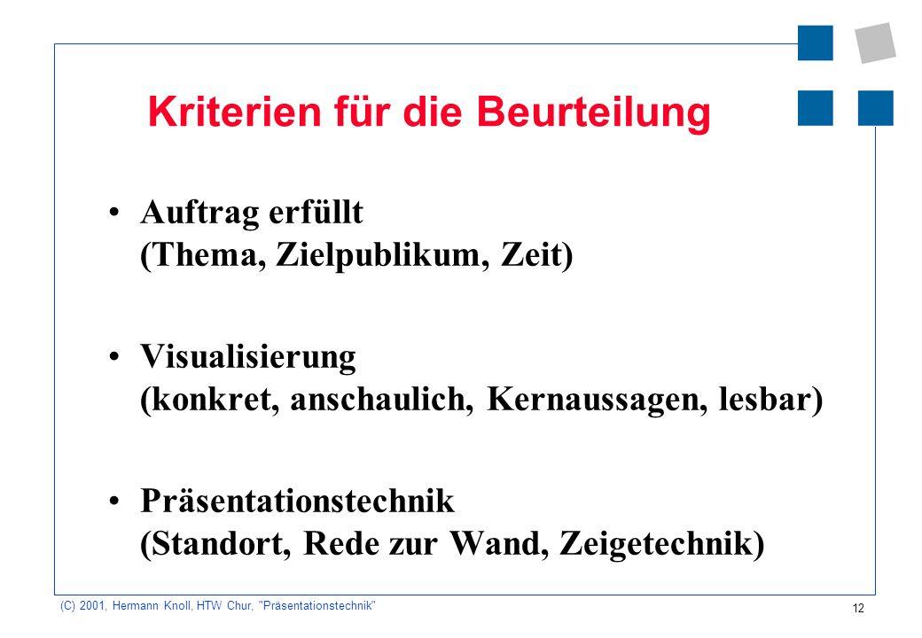 12 (C) 2001, Hermann Knoll, HTW Chur,