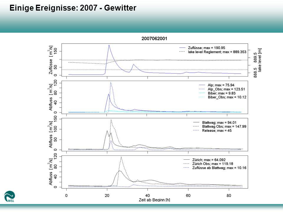 Einige Ereignisse: 2007 - Gewitter