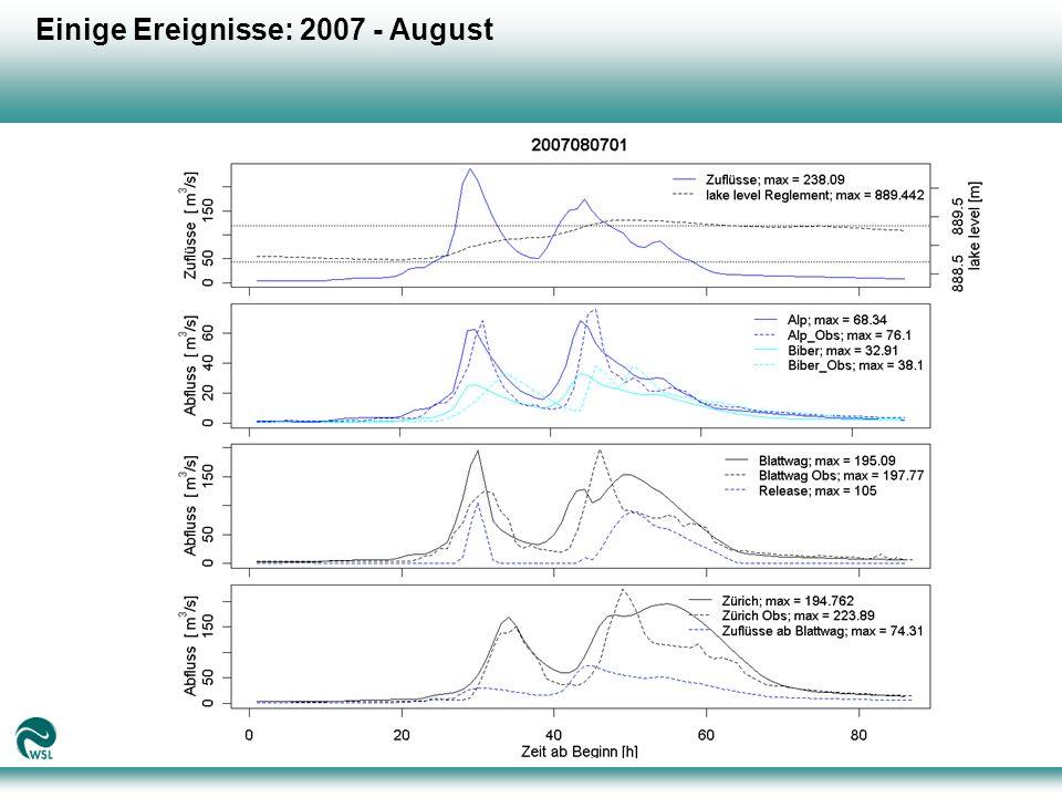 Einige Ereignisse: 2007 - August