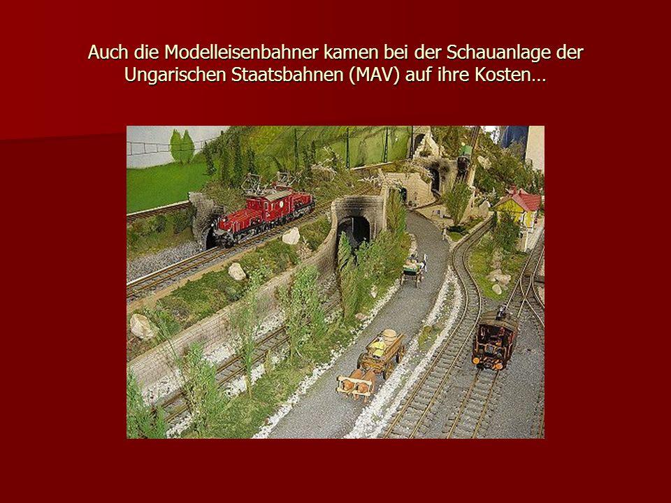 Auch die Modelleisenbahner kamen bei der Schauanlage der Ungarischen Staatsbahnen (MAV) auf ihre Kosten…