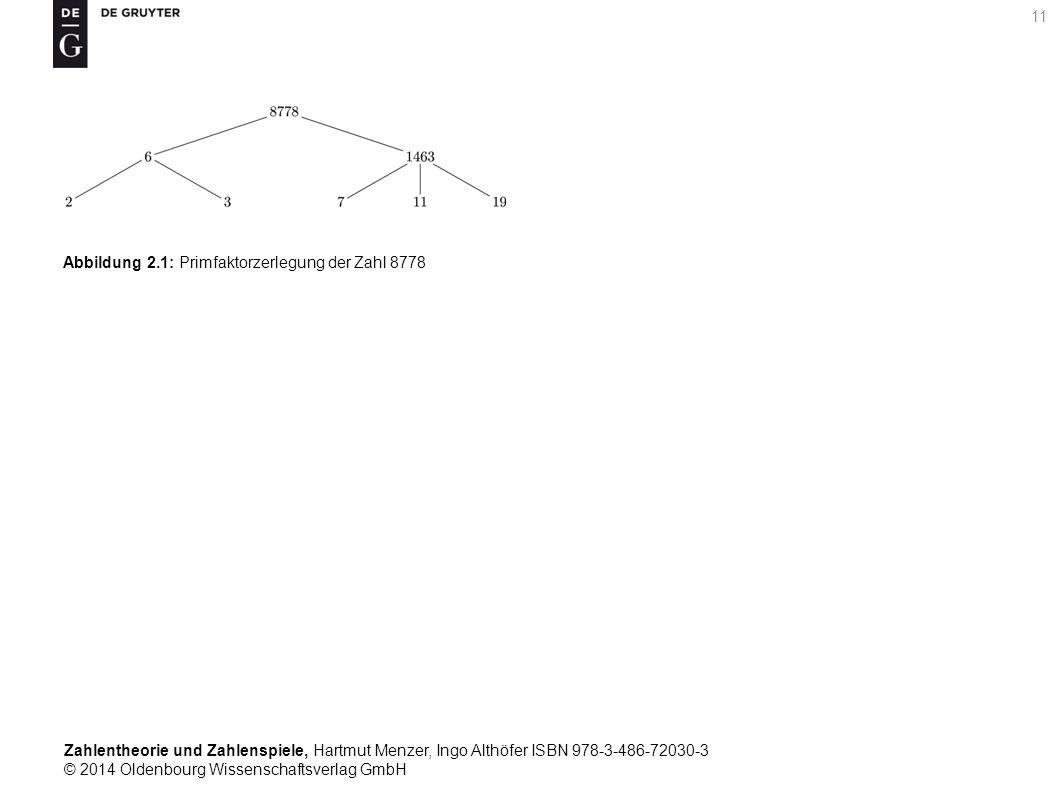 Zahlentheorie und Zahlenspiele, Hartmut Menzer, Ingo Althöfer ISBN 978-3-486-72030-3 © 2014 Oldenbourg Wissenschaftsverlag GmbH 11 Abbildung 2.1: Prim