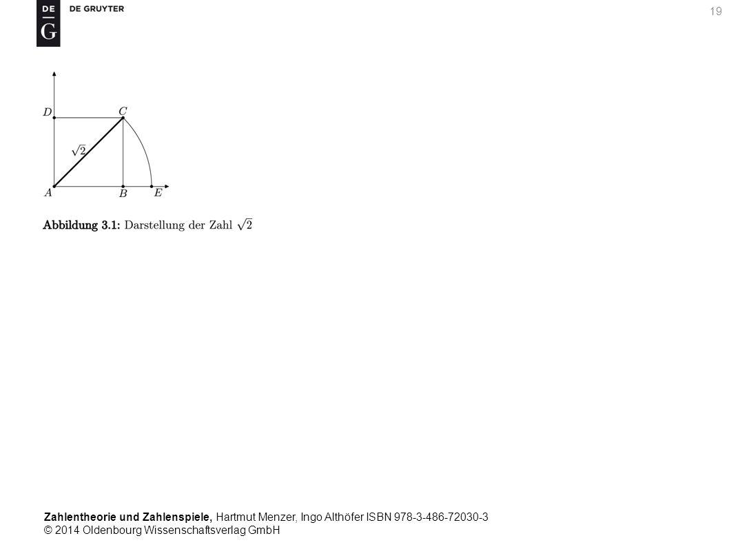Zahlentheorie und Zahlenspiele, Hartmut Menzer, Ingo Althöfer ISBN 978-3-486-72030-3 © 2014 Oldenbourg Wissenschaftsverlag GmbH 19