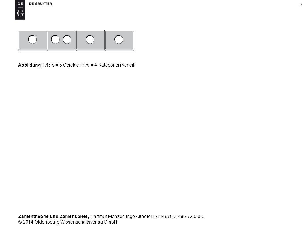 Zahlentheorie und Zahlenspiele, Hartmut Menzer, Ingo Althöfer ISBN 978-3-486-72030-3 © 2014 Oldenbourg Wissenschaftsverlag GmbH 2 Abbildung 1.1: n = 5
