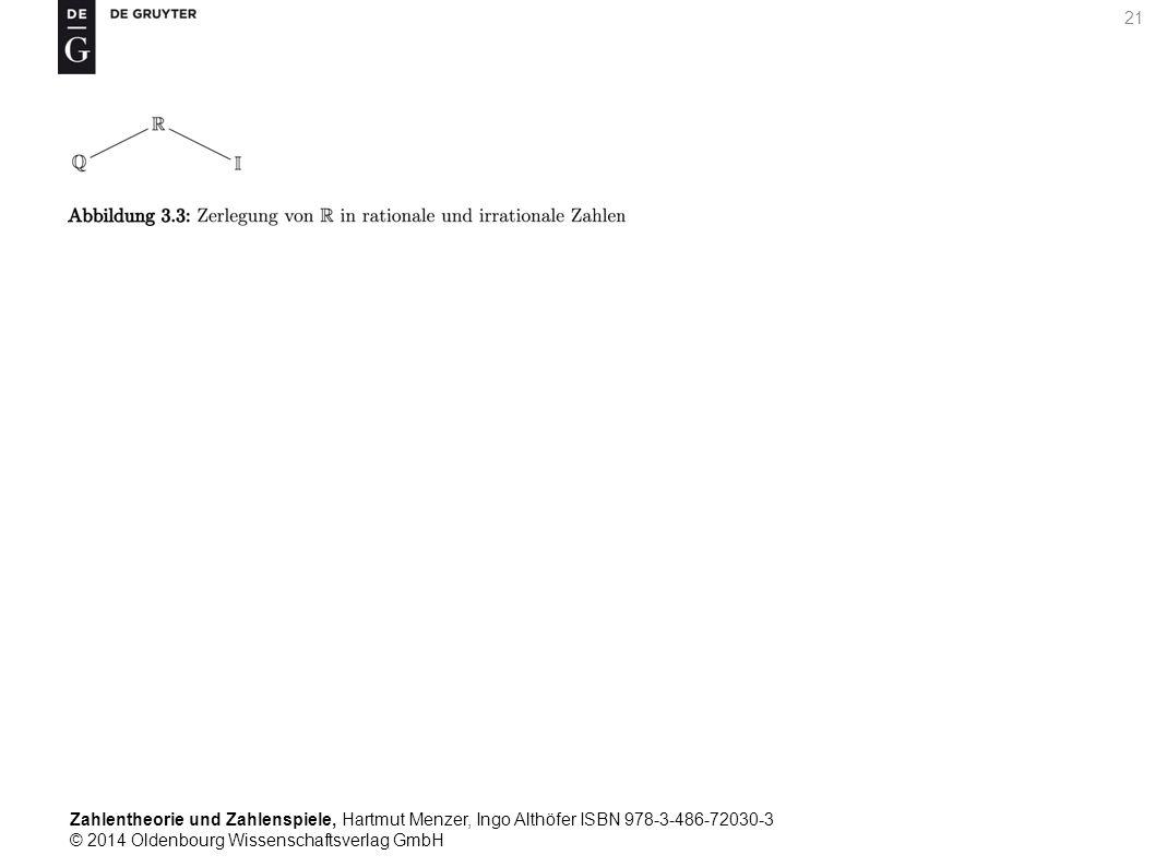 Zahlentheorie und Zahlenspiele, Hartmut Menzer, Ingo Althöfer ISBN 978-3-486-72030-3 © 2014 Oldenbourg Wissenschaftsverlag GmbH 21