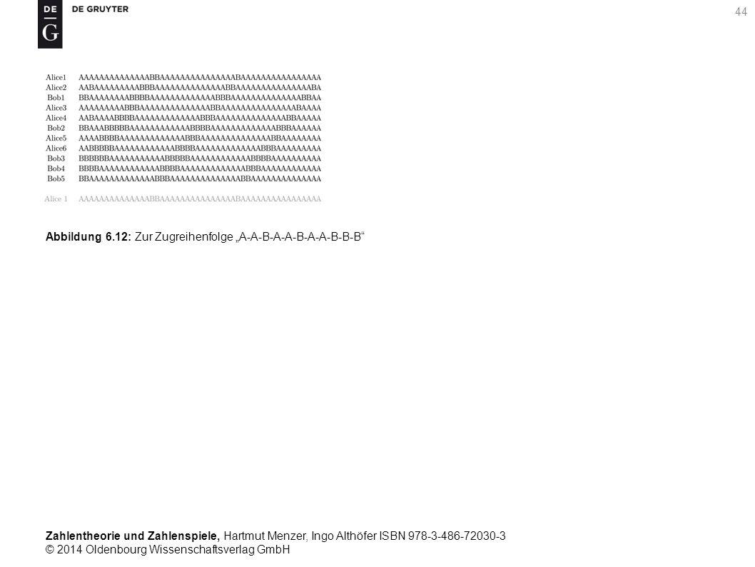 Zahlentheorie und Zahlenspiele, Hartmut Menzer, Ingo Althöfer ISBN 978-3-486-72030-3 © 2014 Oldenbourg Wissenschaftsverlag GmbH 44 Abbildung 6.12: Zur