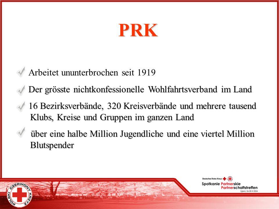 PRK Arbeitet ununterbrochen seit 1919 Der grösste nichtkonfessionelle Wohlfahrtsverband im Land Der grösste nichtkonfessionelle Wohlfahrtsverband im L