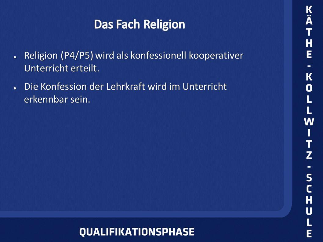 Religion (P4/P5) wird als konfessionell kooperativer Unterricht erteilt. Religion (P4/P5) wird als konfessionell kooperativer Unterricht erteilt. Die