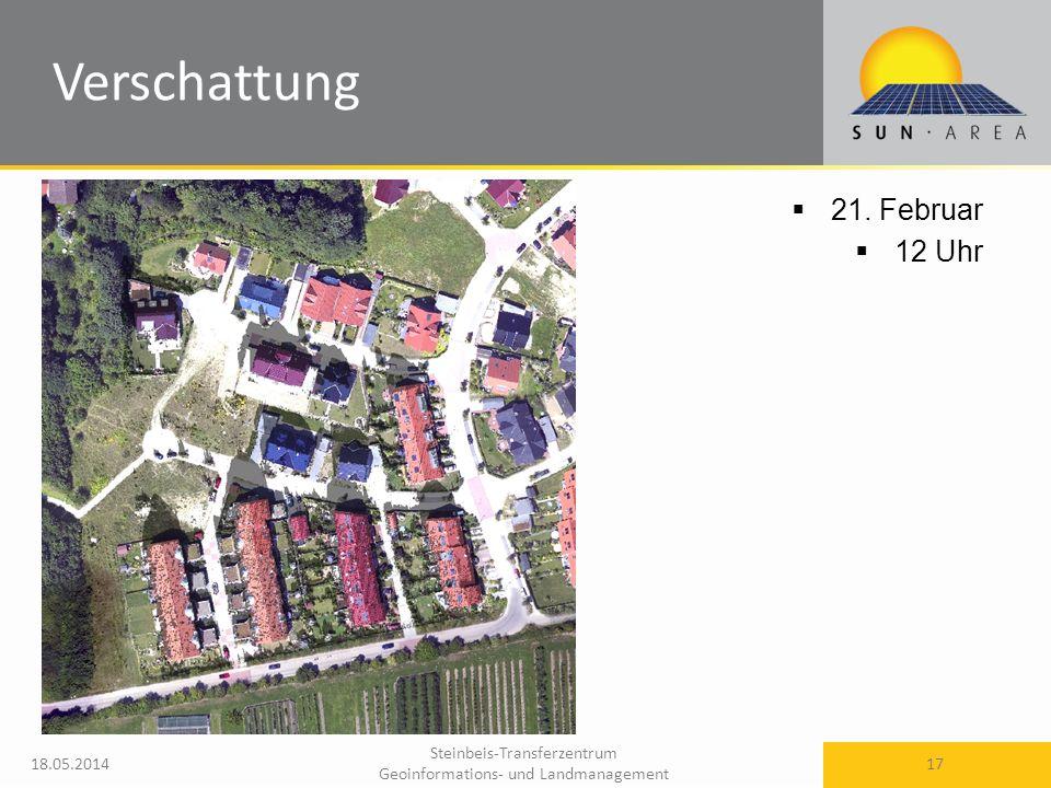 Steinbeis-Transferzentrum Geoinformations- und Landmanagement 18.05.2014 17 21. Februar 12 Uhr Verschattung