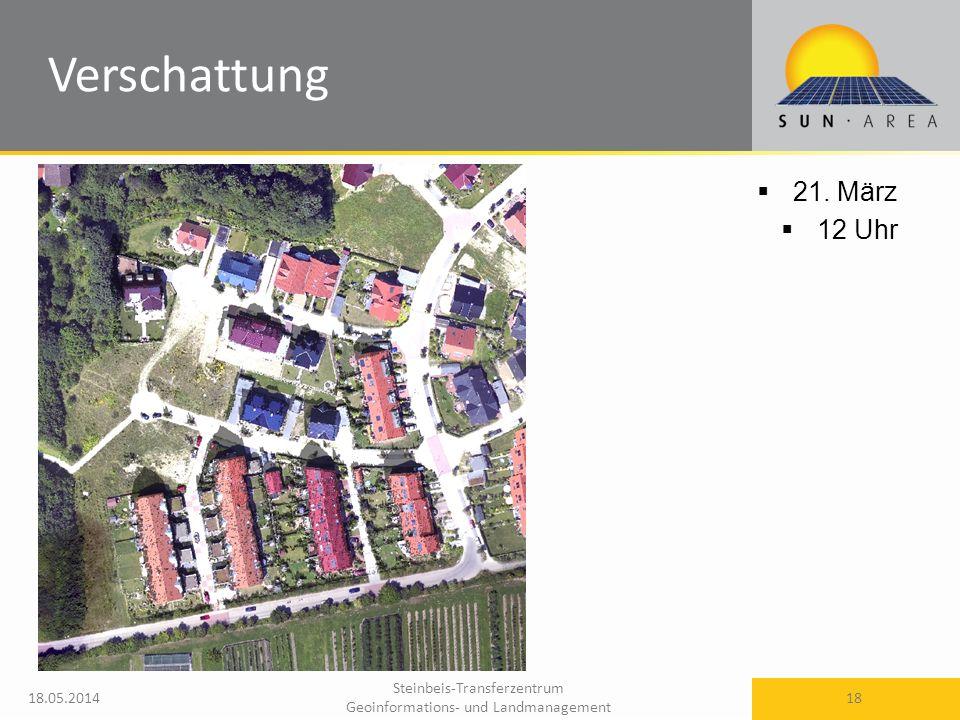 Steinbeis-Transferzentrum Geoinformations- und Landmanagement 18.05.2014 18 21. März 12 Uhr Verschattung