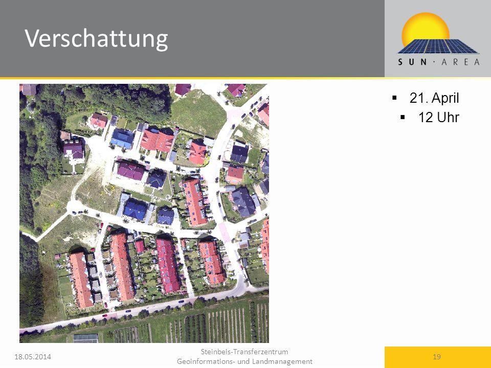 Steinbeis-Transferzentrum Geoinformations- und Landmanagement 18.05.2014 19 21. April 12 Uhr Verschattung