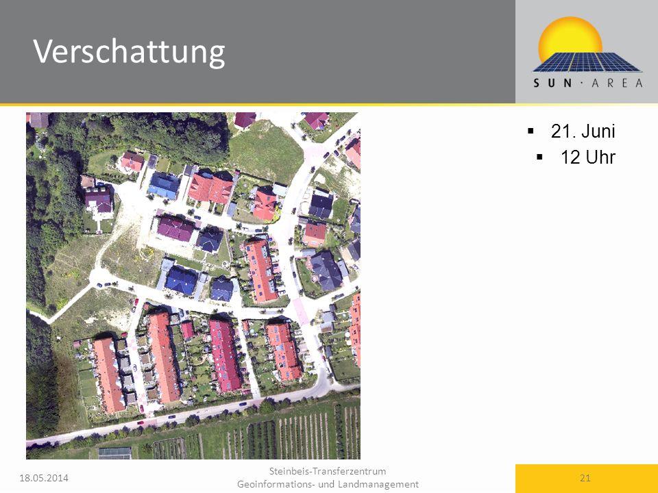 Steinbeis-Transferzentrum Geoinformations- und Landmanagement 18.05.2014 21 21. Juni 12 Uhr Verschattung