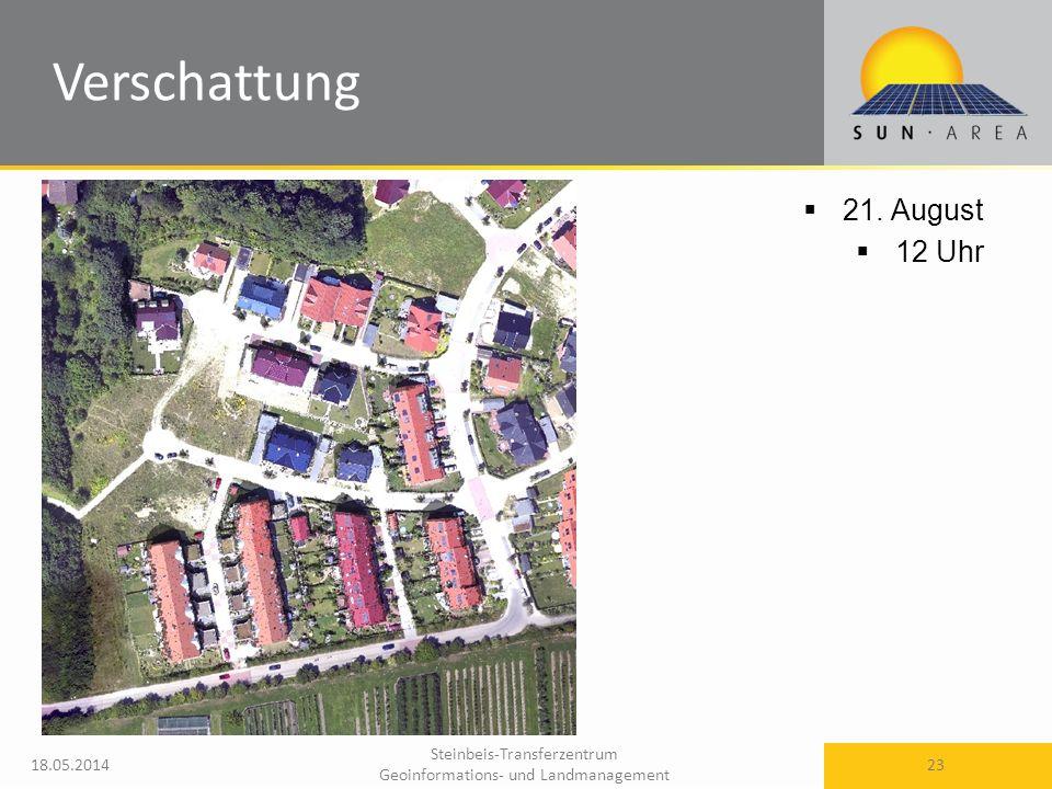 Steinbeis-Transferzentrum Geoinformations- und Landmanagement 18.05.2014 23 21. August 12 Uhr Verschattung