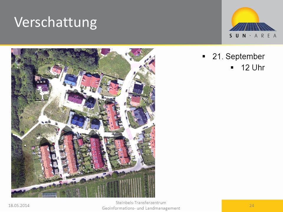 Steinbeis-Transferzentrum Geoinformations- und Landmanagement 18.05.2014 24 21. September 12 Uhr Verschattung