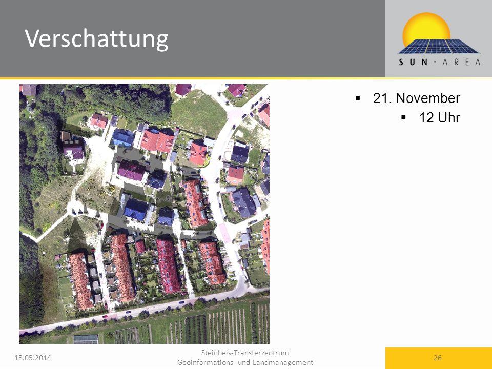 Steinbeis-Transferzentrum Geoinformations- und Landmanagement 18.05.2014 26 21. November 12 Uhr Verschattung