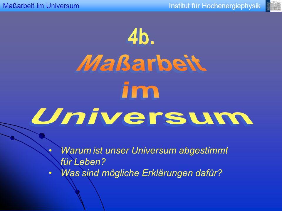 Institut für Hochenergiephysik Die Entstehung des Multiversums Die Entstehung des Multiversums durch die ewige Inflation.
