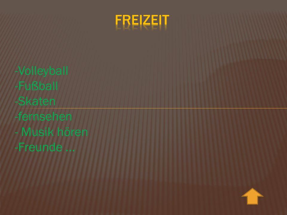-Volleyball -Fußball -Skaten -fernsehen - Musik hören -Freunde...