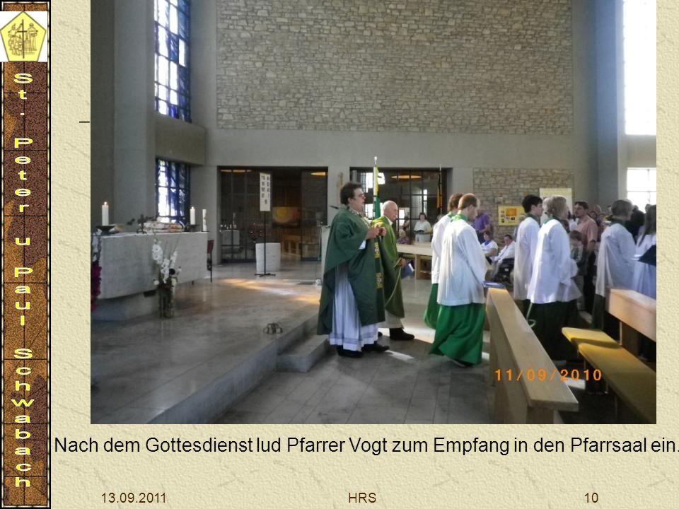 13.09.2011HRS10 Nach dem Gottesdienst lud Pfarrer Vogt zum Empfang in den Pfarrsaal ein.