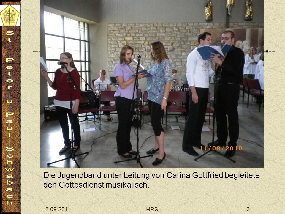 13.09.2011HRS3 Die Jugendband unter Leitung von Carina Gottfried begleitete den Gottesdienst musikalisch.