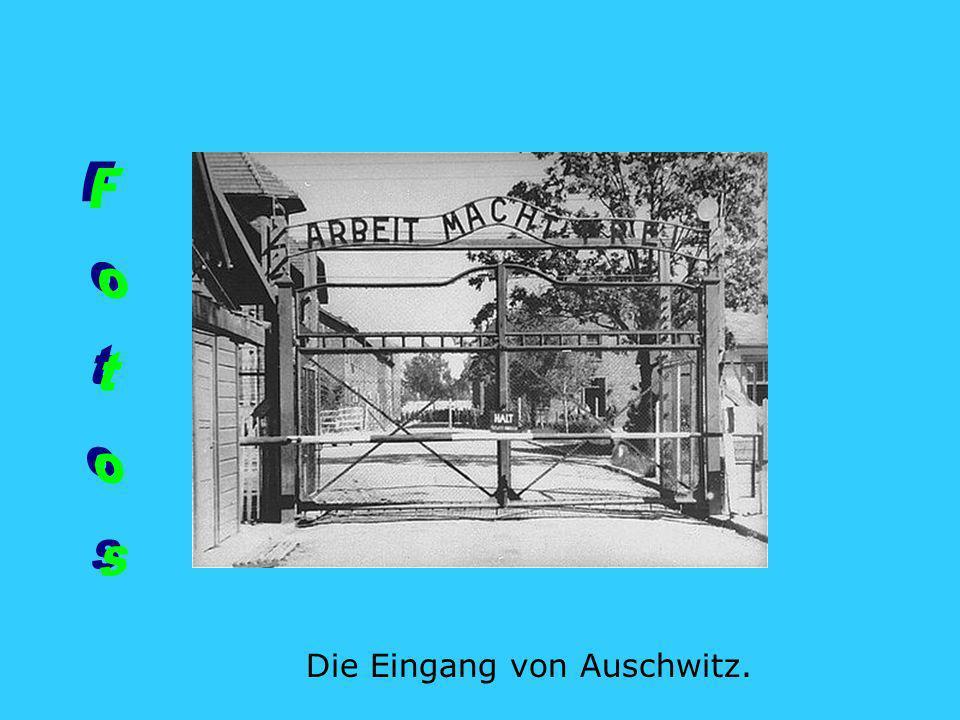 Die Eingang von Auschwitz.