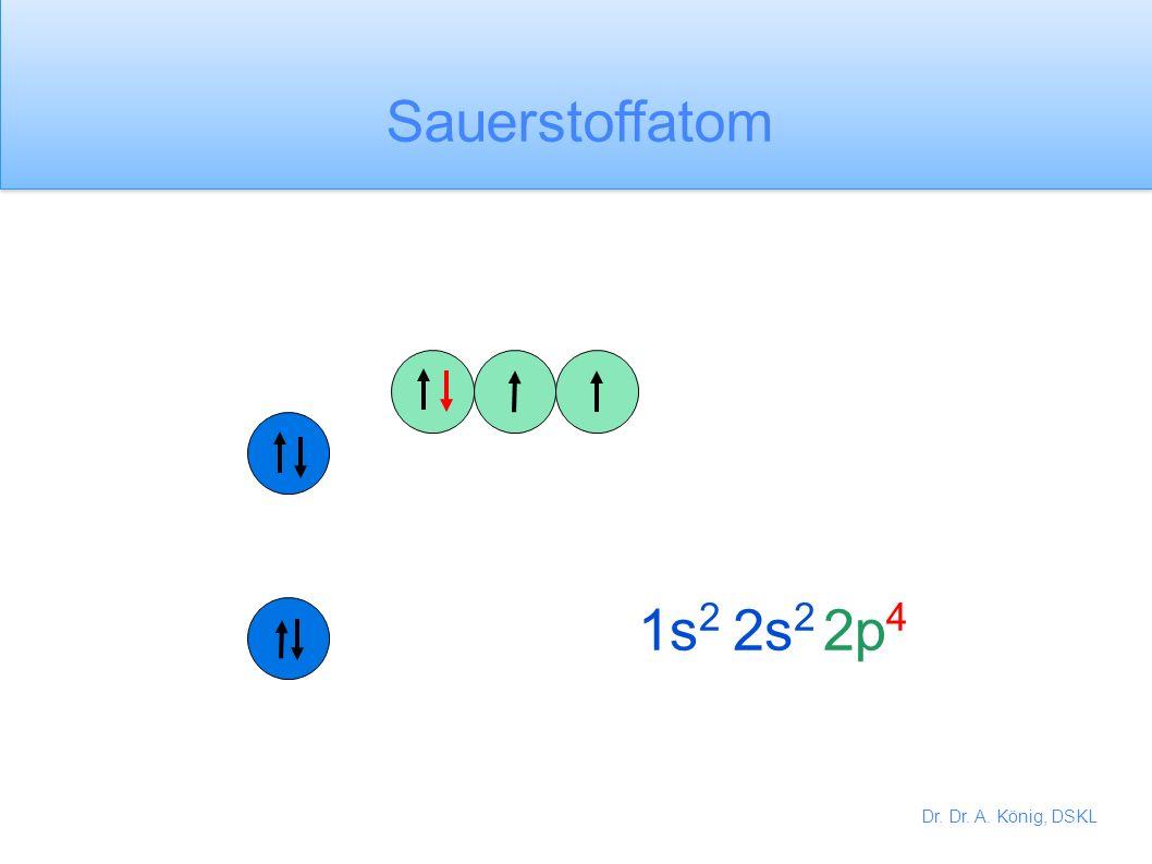 Dr. Dr. A. König, DSKL 1s 2 2s 2 2p 3 Stickstoffatom