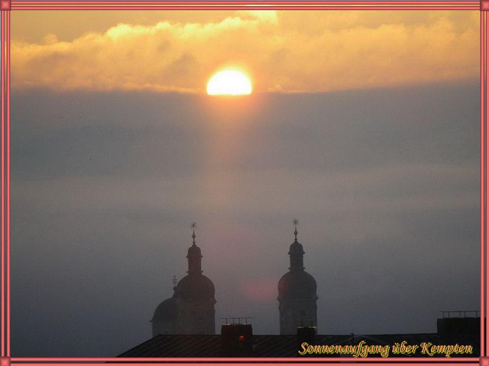 Sonnenaufgang über Kempten