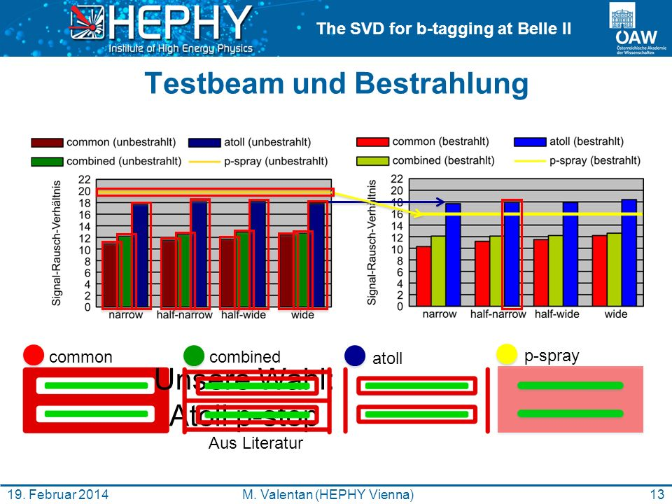 The SVD for b-tagging at Belle II Testbeam und Bestrahlung 13M.