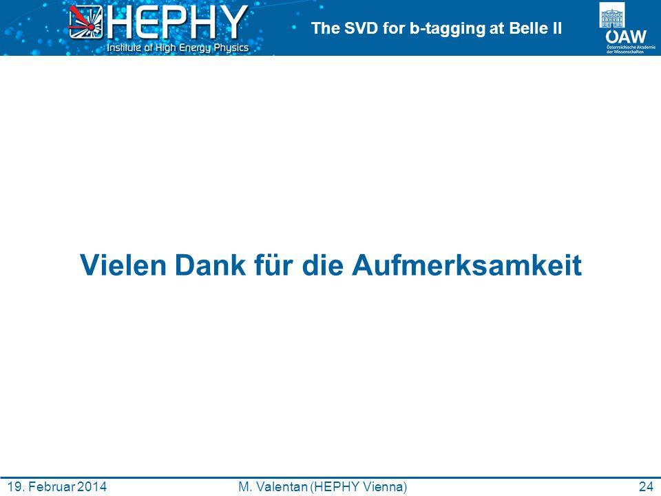 The SVD for b-tagging at Belle II Vielen Dank für die Aufmerksamkeit 24M.