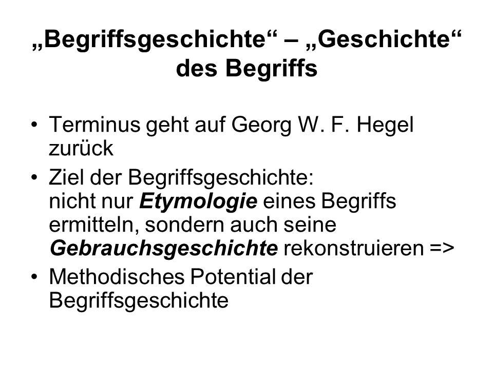 Begriffsgeschichte – Geschichte des Begriffs Terminus geht auf Georg W.