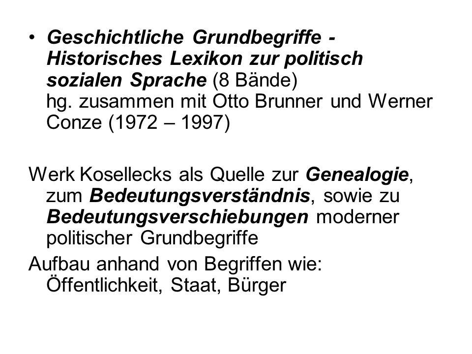 Geschichtliche Grundbegriffe - Historisches Lexikon zur politisch sozialen Sprache (8 Bände) hg.