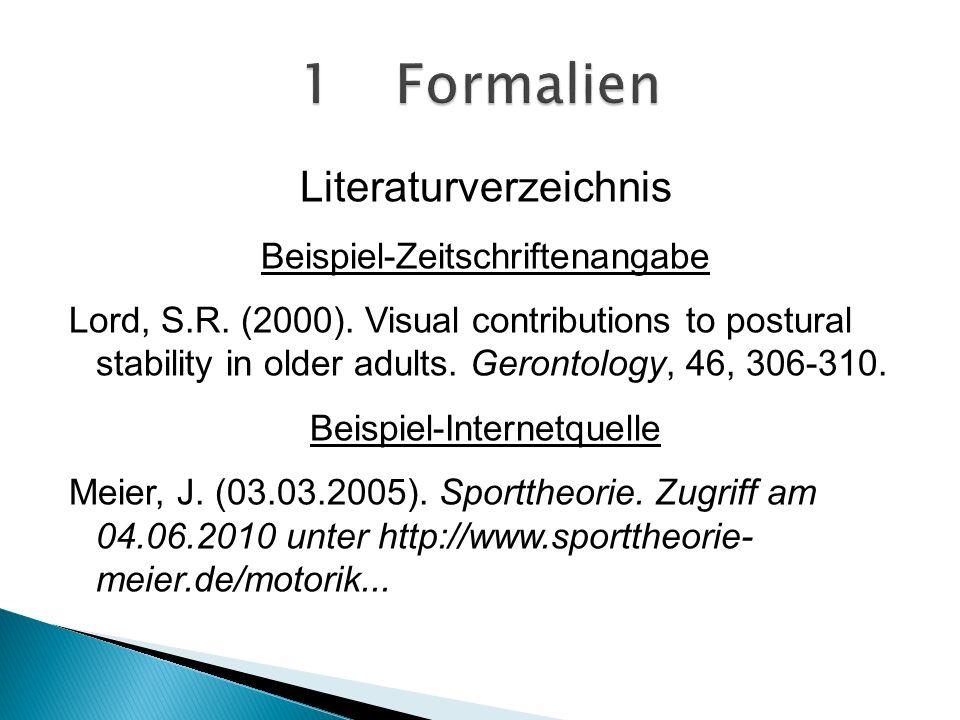 Literaturverzeichnis Beispiel-Zeitschriftenangabe Lord, S.R.