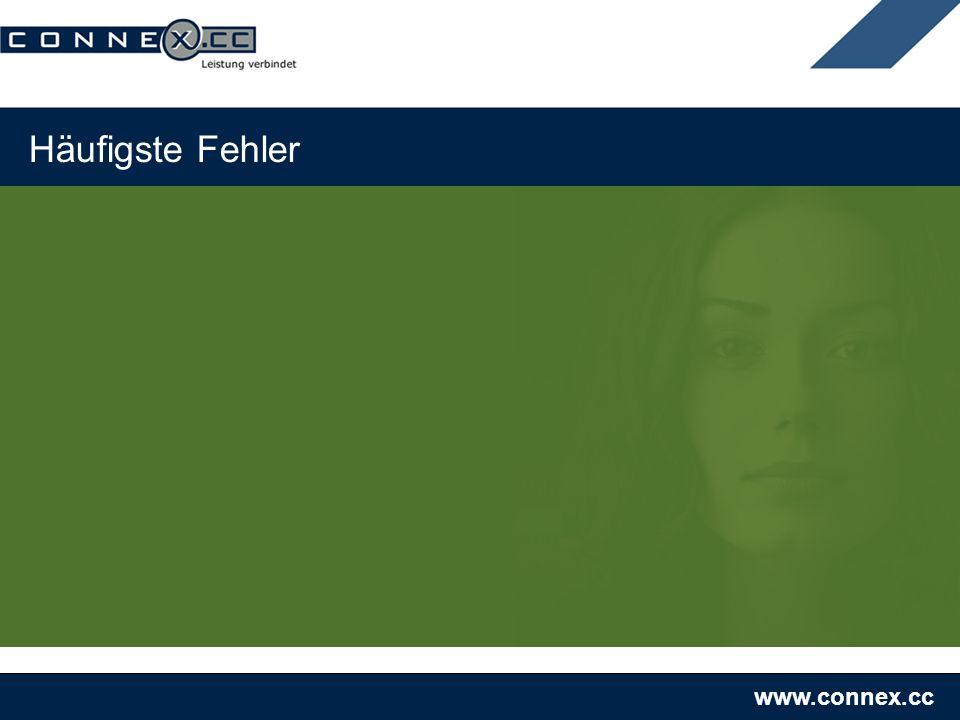 www.connex.cc Häufigste Fehler