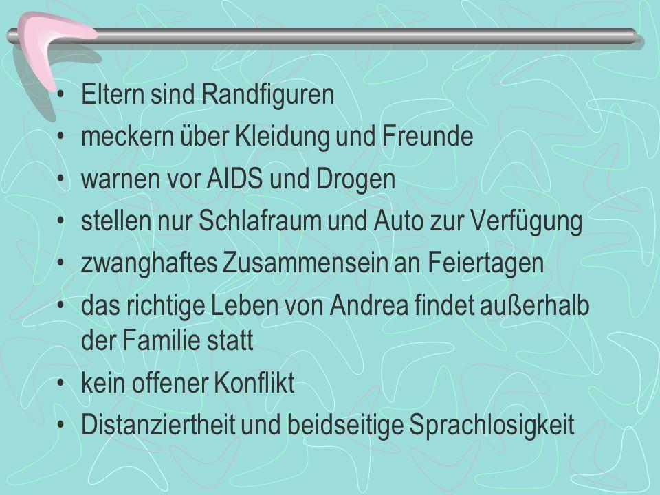 2. Aufstieg und Fall der bürgerlichen Familie Typisches Vorstadtleben ( Rasenmähen, mit Nachbarn tratschen, Auto waschen etc.) Vater: Zahnarzt, Mutter