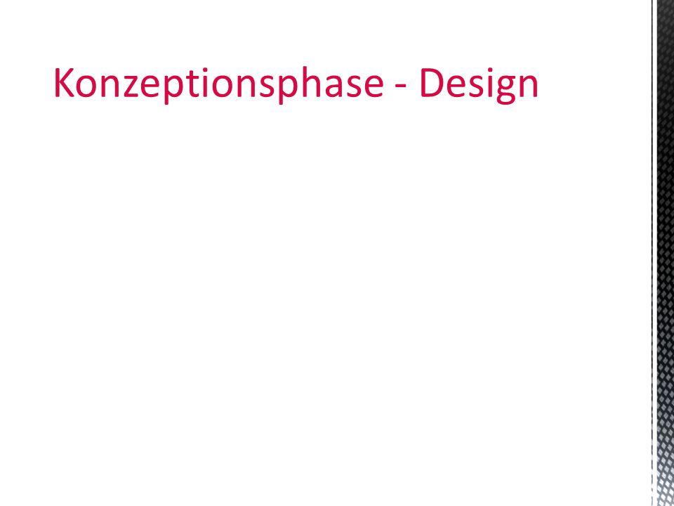 Konzeptionsphase - Design