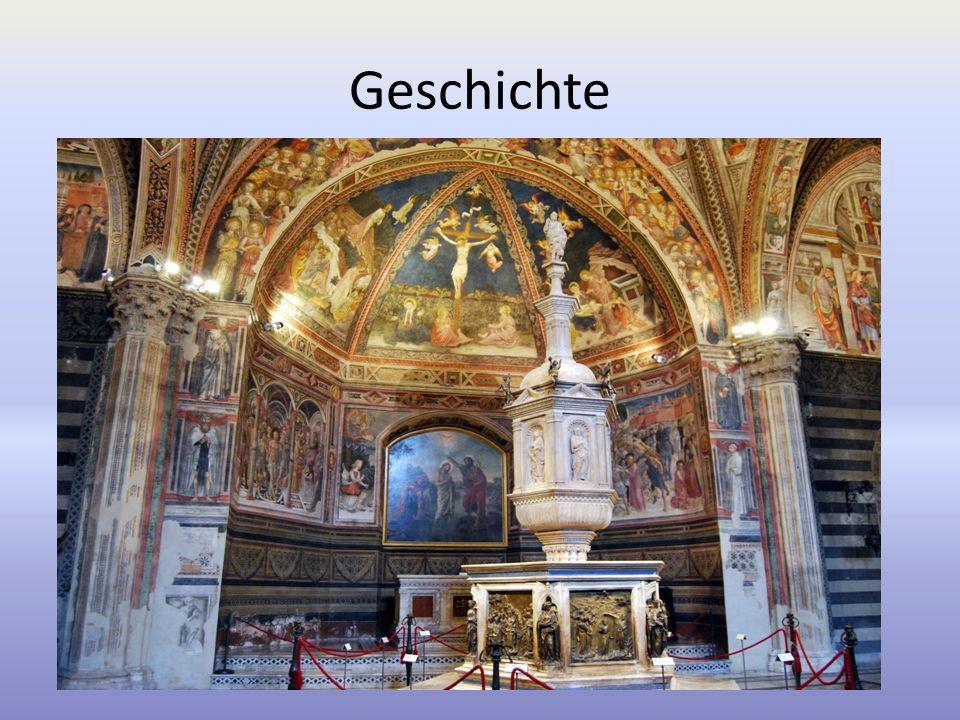 Geschichte Baumeister: Giovanni Pisano, Camaino di Crescentino Baujahr: ca. 1263/ca. 1370 Kirchturm: 1313 beendet Projekt: Dom von Florenz kopieren 18