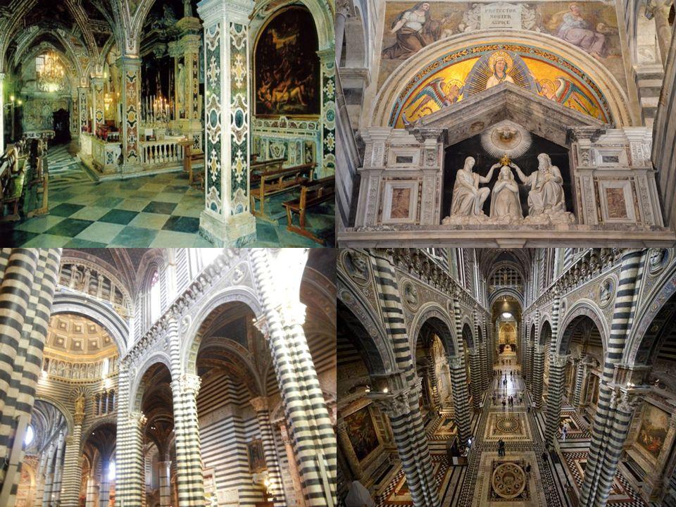 Innenräume 3 Schiff geteilt Statuen: San Pietro,Lucio III und Alessandro III Author: Giovanni di Agostino Kanzel: Szenen über Religion z.B. Allegemein