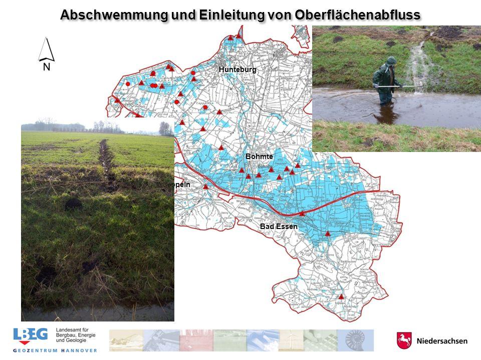 Hunteburg Bohmte Venne Bad Essen Ostercappeln Abschwemmung und Einleitung von Oberflächenabfluss